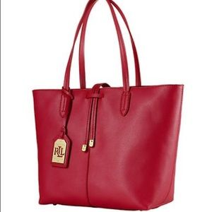 ✨ Ralph lauren Red Crawley tote 🌹